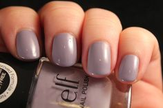 Glimpses of the Moon: October 2013/ELF nail polish /Color:Lilac