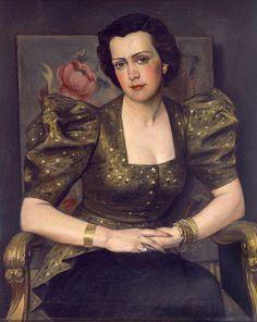 Portrait M. D. 1943 by Yiannis Moralis (Greek 1916-2009)
