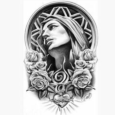 This is super late. But I had drawn this for Mother's Day. This is part of the upcoming book that I'm still working on. I thought I was… Angel Tattoo Designs, Tattoo Sleeve Designs, Sleeve Tattoos, Christ Tattoo, Jesus Tattoo, Tattoo Studio, Tattoo Drawings, Body Art Tattoos, Ora Et Labora