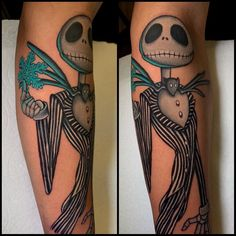"""Jon Leighton on Instagram: """"Started this a few weeks back @fusion_ink @fusionink_pro @electrumstencilproducts @secondskintac @tatsoul #nightmarebeforechristmas…"""" Teal Highlights, Pumpkin Tattoo, Fusion Ink, Under My Skin, Cute Tattoos, Nightmare Before Christmas, Piercing, Tattoo Ideas, Sewing Projects"""