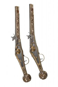 A PAIR OF GERMAN WHEEL-LOCK HOLSTER PISTOLS BEARING THE ARMS OF FRIEDRICH WILHELM I, DUKE OF SAXE-WEIMAR, ADMINISTRATOR OF THE SAXON ELECTORAL REGENCY, MAKER'S MARK OF CHRISTOPH DRESSLER, DRESDEN, DATED 1596  I