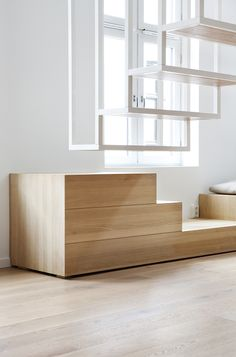 Apartment: Contemporary Wooden Furniture Meets White Modern And Futuristic Floating Staircase Home Interior Decor And Design Ideas Trypei: C. Architecture Design, Sustainable Architecture, Interior Staircase, Staircase Design, Design Hotel, House Design, Restaurant Design, Stairs To Heaven, Escalier Design