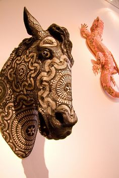 Horse by Joana Vasconcelos | Animal Sculptures Covered with Complex Crochet Patterns - My Modern Metropolis