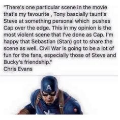 Civil War <<<YAAAAASSSSSSS. Well, not violence, but the whole fact that this happened and BUCKY WAS THERE.