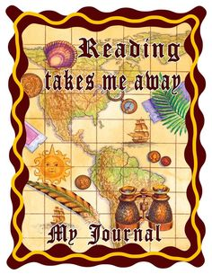 "Reading journal in SPANISH in fun scroll map design- ""Leyendo me lleva lejos"" Reading takes me far"" 100 Days Of School, School Fun, Back To School, Reading Journals, School Signs, Map Design, 100th Day, Teacher Appreciation, Teacher Gifts"