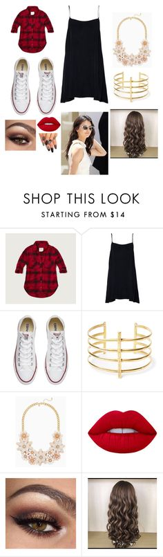 """""""Back to school pt. 4"""" by bearteddyblitz on Polyvore featuring Abercrombie & Fitch, Converse, BauXo and Lime Crime"""