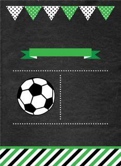 Soccer Birthday Parties, Leo Birthday, Football Birthday, Soccer Party, Birthday Party Themes, Soccer Theme, Football Themes, Birthday Party Invitations Free, Kids Soccer
