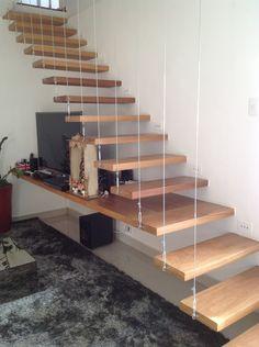 Home Stairs Design, Stair Railing Design, Interior Stairs, Door Design, Home Interior Design, House Design, Small Space Stairs, Space Saving Staircase, Staircase Bookshelf