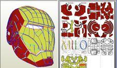 【下載】(新增完整版 ☆☆全套全身盔甲☆☆1:1 可穿戴)DIY 鋼鐵人頭盔 Iron Man Helmet Q版+立姿+跪姿+紙箱共五種 最新鋼鐵人紙模型 Iron Man Papercraft @ MiLo :: 痞客邦 PIXNET ::