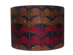 Red Brown Chevron African Print Lampshade Back To by DetolaAndGeek