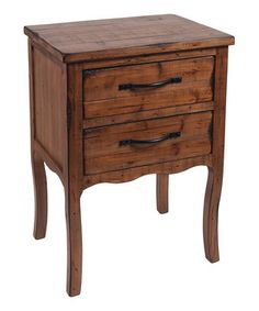 Look what I found on #zulily! Two-Drawer Side Table by Wilco #zulilyfinds