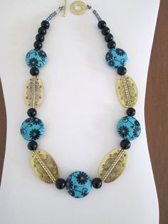 Sophisticated Diva Necklace  Black and Turquoise by TheJewelryDiva, $18.00