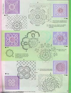 more crochet diagrams