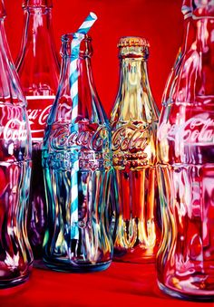 coke and stripes straw £600.00 By Kate Brinkworth Image 55.5cm x 80cm on 65.5cm x 92cm paper,unframed 24 colour Silkscreen print,hand produced by Harwood King Gloss finish printed on 400gsm Somerset paper Edition of 50