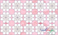 Cathi's Octagon Layout. A nice, unusual quilt layout from Inklingo using octagons.