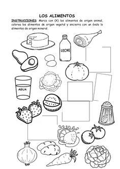 comida nutritiva y chatarra para colorear - Buscar con Google