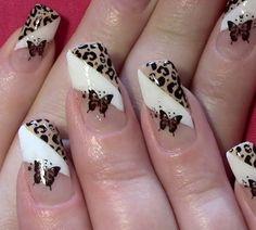 Gelnägel muster leopard