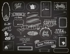Vecteur : Chalkboard Ads, Frames and Banners