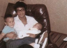 Bruce enjoy family time with his son Brandon and baby daughter Shannon
