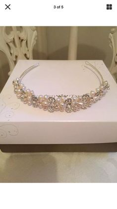 Crystal and Pearl Tiara. Worn only once by my best friend on her wedding day. Stored in its origin