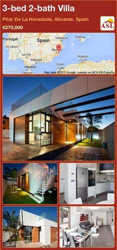 3-bed 2-bath Villa in Pilar De La Horadada, Alicante, Spain ►€270,000 #PropertyForSaleInSpain