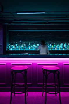 Lo-Fi bar by Synecdoche Design Studio – led booth lighting – cyberpunk – basemen… – Top Trend – Decor – Life Style Hotel Lounge, Office Lounge, Lounge Decor, Beach Lounge, Lounge Chair, Lounge Club, Hookah Lounge, Lobby Lounge, Lounge Ideas