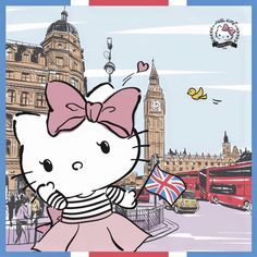 Hello Kitty:) in England Hello Kitty Art, Hello Kitty My Melody, Hello Kitty Pictures, Hello Kitty Items, Hello Kitty Birthday, Sanrio Wallpaper, Hello Kitty Wallpaper, Hello Kitty Collection, Sanrio Hello Kitty