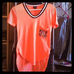 Hi-low shirt Super cute. Good condition Rue 21 Tops Tees - Short Sleeve