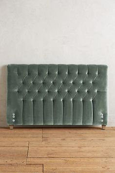 "Velvet Tufted Lena Headboard - anthropologie.com Shown in ""Duck Egg"""