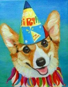 Corgi, happy birthday to you . Happy Birthday Dog Meme, Happy Birthday Greetings, Cute Drawings, Dog Breeds, Cute Animals, Birthdays, Nerd, Clip Art, Dogs