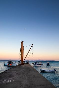 Evening in Moutsouna, Naxos, Greece Blue Hour, Golden Gate Bridge, East Coast, Santorini, Summertime, Greece, Island, Sunset, Explore