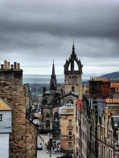 The Royal Mile, St. Giles' Cathedral from the Camera Obscura, Edinburgh, 2012 by photphobia, via Flickr