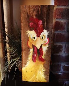I have a silly #chicken hand painted on a gorgeous piece of barn wood ready for immediate sale, $40. She would make the perfect #Christmas #gift for someone on your list who's been extra good this year!  #thehandmadeparade #lovemymakers #shopsmall #supportsmallbusiness #creatorcommunity #barnwood #painting #memphis #choose901 #rustic #barnart