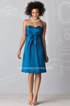 Unique strapless royal blue bridesmaid dresses by la femme