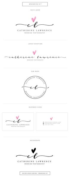 Premade Logo - Logo Design - Business Logo - Photography Logo - Watercolor Logo…