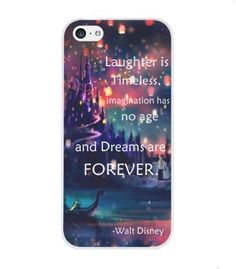 Laughter is timeless, imagination has no age and dreams are forever - iPhone 5C black plastic case / Inspiration Walt Disney quotes:Amazon:Cell Phones & Accessories