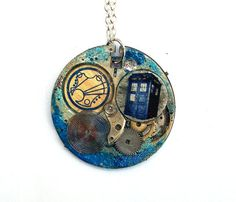 "Doctor Who Necklace ""Timeless"" Steampunk Doctor Who by TimeMachineJewelry"