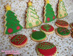 Resultado de imagen de decoracion de galletas navideñas