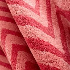 The Land of Nod | Kids' Rugs: Kids Pink Chevron Cotton Rug in All Rugs
