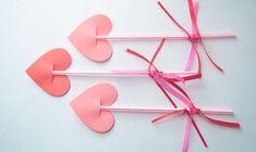 bricolage facile  pour la Saint Valentin flèches d'amour