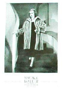 Vintage Ad Art - Woman Fur Coat