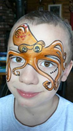 Gallery For > Octopus Face Paint