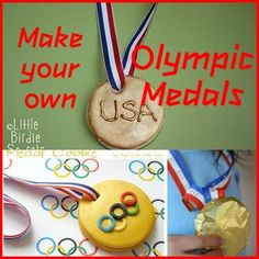 Getting ready for the Olympic Games: lots of ideas to make your own medals Olympic Medals, Olympic Games, Market Day Ideas, Olympic Crafts, Fun Crafts, Arts And Crafts, Winter Olympics, Craft Activities, Art Lessons