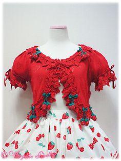 Strawberry Parlour Knit Bolero