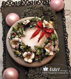 bombka sospeso transparente 3d Paper, Rice Paper, Cake Cookies, Acai Bowl, Decoupage, Shabby Chic, Merry Christmas, Candle, Birds