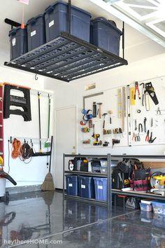 DIY garage organizat