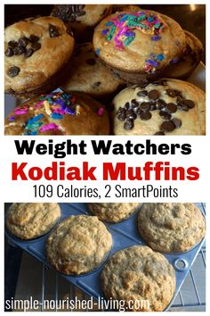 As a longtime lifetime WW and muffin lover, these light and healthy Kodiak Cakes Muffins are a new favorite. They help me indulge my cravings while staying on track. They are slightly sweet and satisfying, keeping me full for hours, 109 calories, 2 SmartPoints (green, blue, purple) Kodiak Cake Muffins, Kodiak Cakes, Weight Watchers Muffins, Weight Watchers Meals, Healthy Desserts, Healthy Recipes, Ww Desserts, Healthy Breakfasts, Healthy Eats