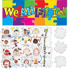 We All Fit In Puzzle Kit:  love this idea for a first day activity/bulletin board