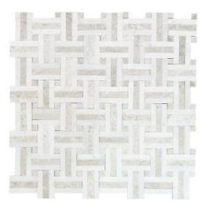 Jeffrey Court Churchill White Split Face 11.75 in. x 12.5 in. x 8 mm ...