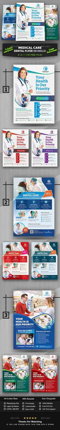 Medical Insurance Business Flyer Templates From Graphicriver inside Nurses Week … - Health insurance Medical Dental, Medical Care, Dental Health, Dental Care, Health Care, Sugar Free Gum, How To Prevent Cavities, Care Logo, Backgrounds